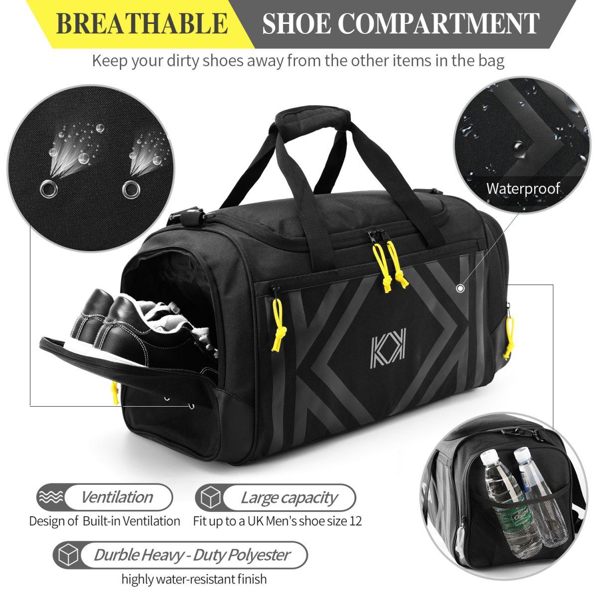 ff6341b868c3 KK Sport duffle bag, gym bag, fitness bag, exercise bag, travel bag